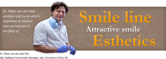 Studies published by dr. Pieter van der Geld considering spontaneous and posed smiling, smile-attractiveness and the smile line.